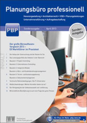 """Bürosoftware im Praxis-Check 2013 von """"Planungsbüro Professionell"""""""