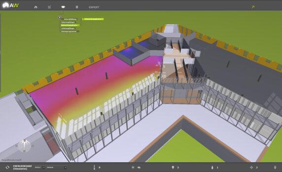Simulation des Tageslichteinfalls