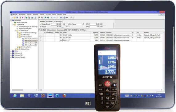 Laser Entfernungsmesser Software : Aufmaß mit mwm libero auch auf windows 8 tablets