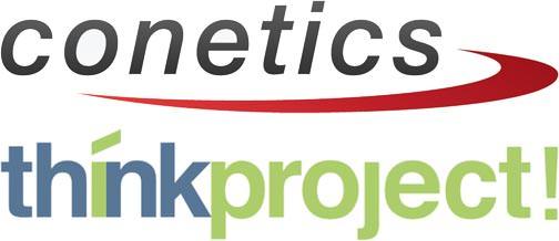 Logos von Conetics und think project!