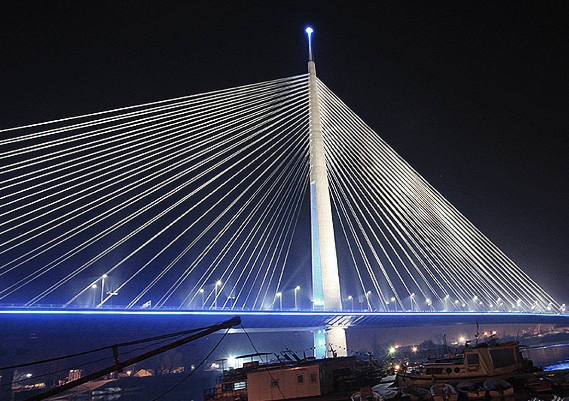© BTG IT & Consulting GmbH / Ada Bridge over Sava, Serbia (by courtesy of Ponting Consulting Engineers Ltd., Slovenia)