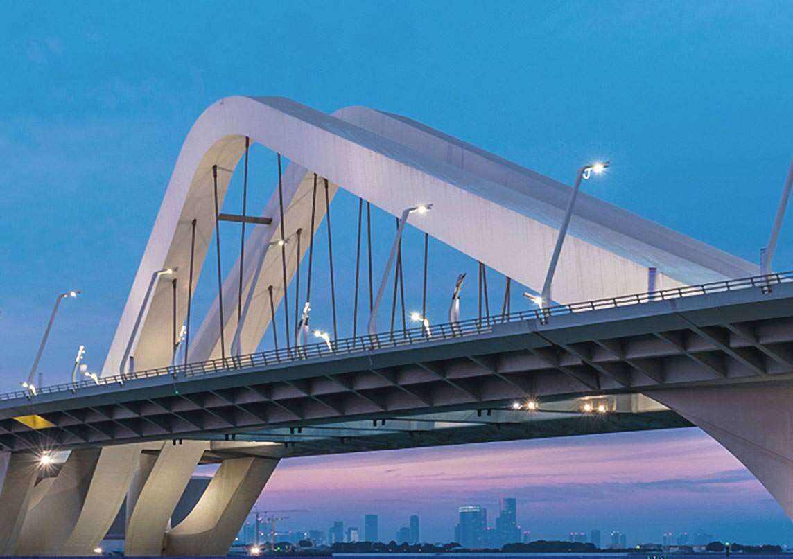 © BTG IT & Consulting GmbH / Sheikh Zayed Bridge, UAE (by courtesy of Rendel Limited, UK)