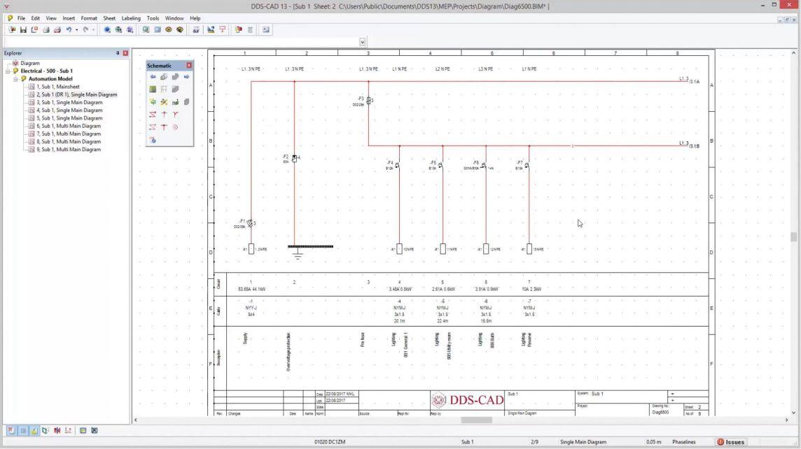 Verbesserungen in Bezug auf das Anlegen, Kopieren und Editieren von Stromlaufplänen vereinfachen und beschleunigen die Arbeit mit DDS-CAD 13.