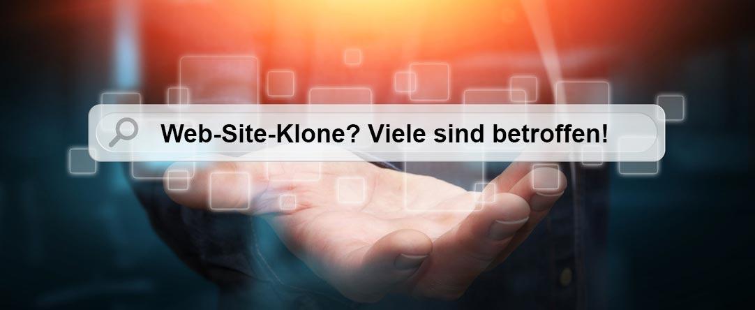 Ein Sumpf von Web-Site-Klonen: Ihre Homepage ist vielleicht auch ...