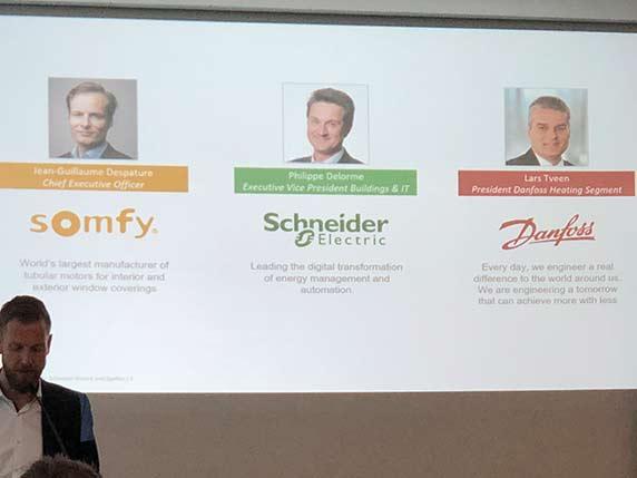 Somfy, Schneider Electric und Danfoss vereinbaren Zusammenarbeit In Sachen Smart Home.