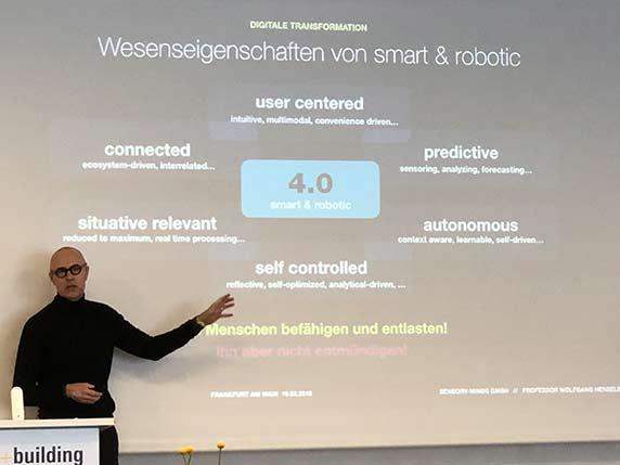 Vortrag von Prof. Wolfgang Henseler zu den Wesenseigenschaften der 4.0-Welt