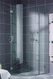 Ganzglas-Duschkabine, barrierefrei, Dusche, Duschwannen, Duschen, Dusche, Duschwand, Spritzschutz, KermiClean, Glasdusche, Ganzglas-Kabinen, Ganzglas-Kabine, Einscheiben-Sicherheitsglas, Badezimmer, Badheizkörper
