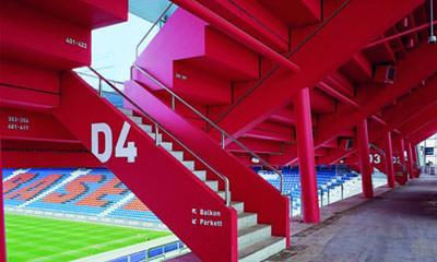 Joggeli, FC Basel, Architekten Herzog & de Meuron, Stadionbau, Sportstätt, Fassaden, Lichtkuppeln, Architekten
