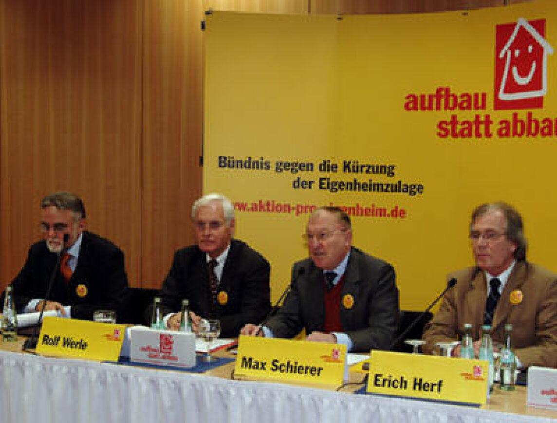 Pressekonferenz der Aktion pro Eigenheim