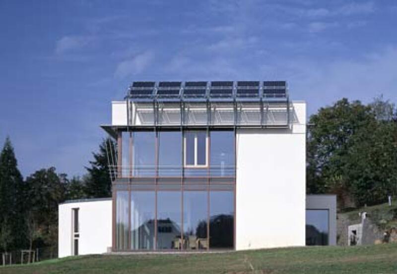 Passivhaus mit Glasarchitektur