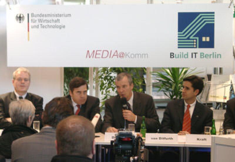 MEDIA@KOMM, Dr. Michael Zinke (BMWi), Siegmar Mosdorf  (Stadt Esslingen), Dr. Jürgen Zieger (BMWi), Philip von Ditfurth (conject), MEDIAKOMM,