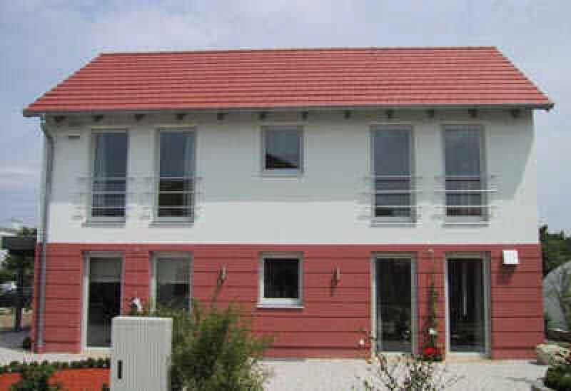 Ziegel-Modulhaus im Niedrigenergiehaus-Standard