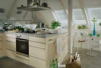 Offene k chen bringen weite unters dach - Dachgeschoss gestaltungsideen ...