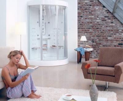 dampfbad von hoesch design mit volldampf auf entspannungskurs. Black Bedroom Furniture Sets. Home Design Ideas
