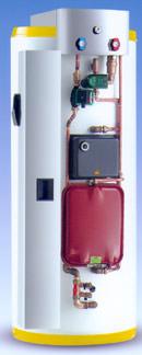 Solarspeicher, Solarwärmetauscher, Warmwasserbereitung, Warmwasserspeicher
