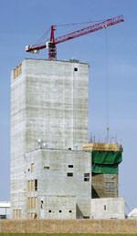 Gleitschalungsbau, grüner Beton, Betontechnologie, Beton, Zement, Silos