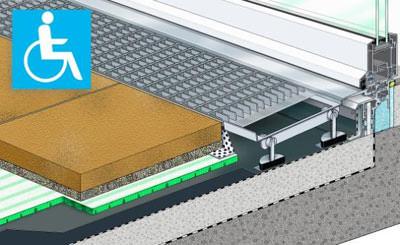 barrierefrei hat zukunft drainroste und fl chendrainagen l sen t ranschlussproblematik. Black Bedroom Furniture Sets. Home Design Ideas