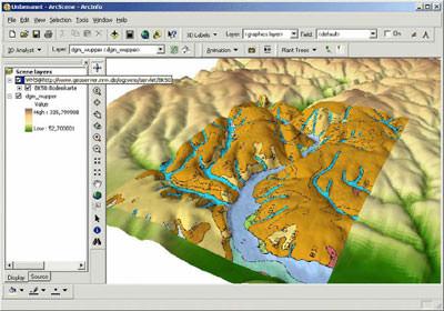 GIS, Geländemodelle, 3D-Landschaft, 3D-Geodaten, Gebäudemodelle, Facility Management, Geoinformatik, Umweltmanagement, Katastrophenmanagement