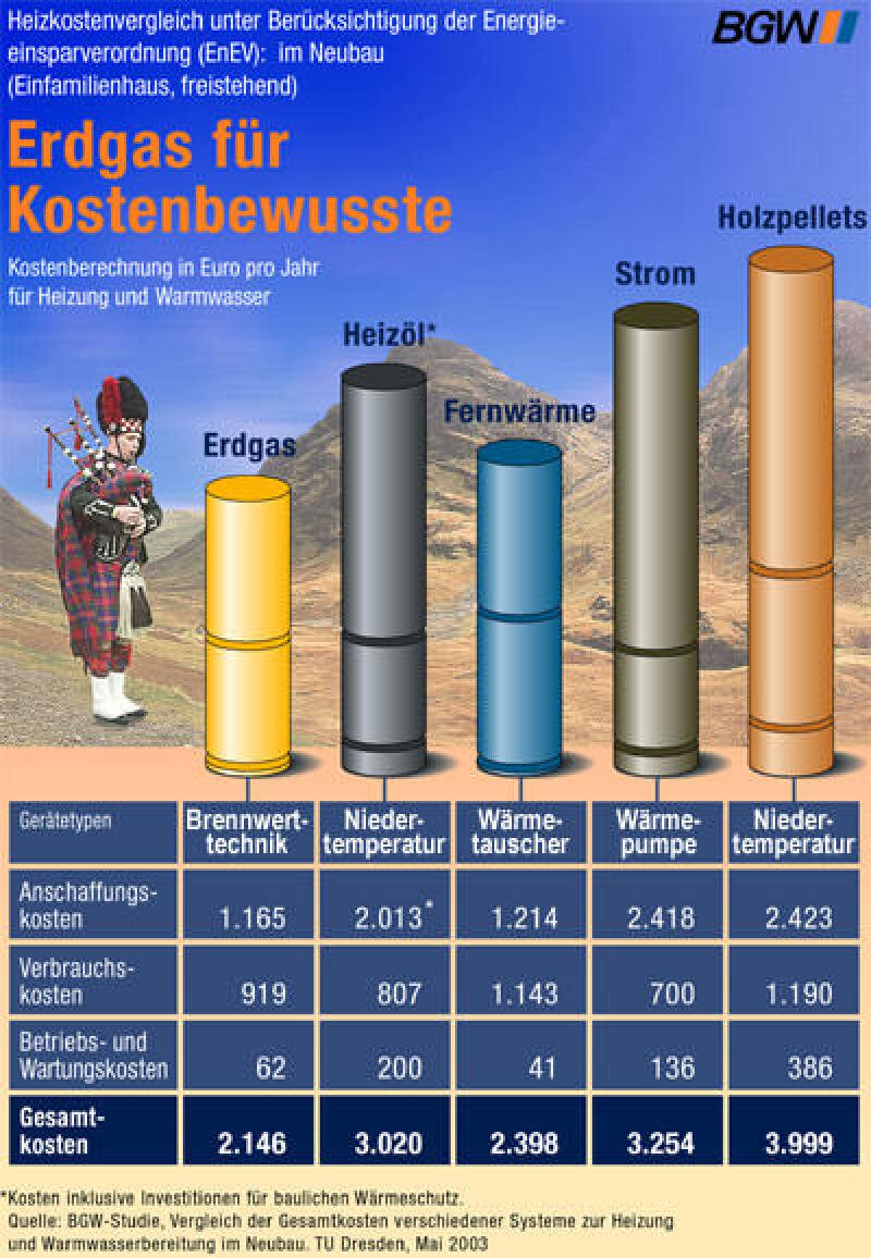 Heizkosten, Erdgas, Bundesverband der deutschen Gas- und Wasserwirtschaft