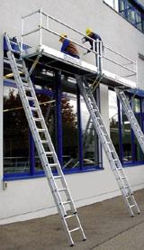 Leiterbühne, Leiter, Gerüst, Gerüste, Steigtechnik, Fassaden, Rollgerüste, Gerüstklasse III