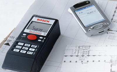Aufmaß, Vermessung, Laser-Entfernungsmesser, Bluetooth-Schnittstelle, Entfernungsmessung, Maler, Gebäudereiniger, Bodenleger, Handwerker, Flächenmaße, Gebäudevermessung, Längenmessung
