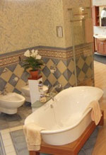 Badezimmer, Sanitärmessen, Duschsitze, Waschtische, Boudoir, Pool, Glamour