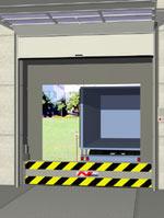 Verladetore, Verladetechnik, Verladerampe, Lkw-Verladerampen, Sicherheitsbestimmungen, Anfahrschutz, Logistikzentren, Überladebrücken, Logistikkette, Verladetechnik, hydraulische Anfahrschutz