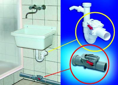 neue r ckstauverschl sse dn 50 bieten schutz vor wasser im. Black Bedroom Furniture Sets. Home Design Ideas