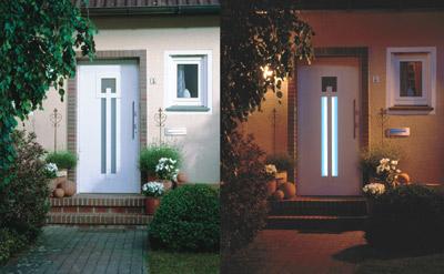 haust ren mit integrierter beleuchtung aluminium t rbl tter mit led leuchten. Black Bedroom Furniture Sets. Home Design Ideas