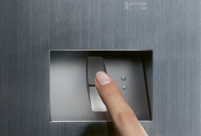 Türstation, Zugangskontrolle, Fingerprint, Haustürschlüssel, Codekarte, Haustür, Fingerabdruck, Gebäudekommunikation, Fingerprint-System, Türstationen, Zugangsberechtigung