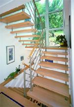 treppe und edelstahl klassisch zeitlos sch n. Black Bedroom Furniture Sets. Home Design Ideas