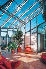 schuco wintergarten, neues wintergarten-system von schüco | pfosten-riegel-konstruktion, Design ideen