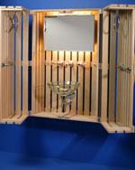Baddesign, Badmöbel, Waschbecken, Spiegel, Handtuchhalter, Wasserhähne, WC, red dot design museum