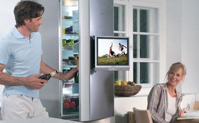 Kühlschrank, Kühlschränke, Fernseher, HiFi, Flüssigkristall–Display, DVD-Player, Video-Recorder, Kühl-Gefrier-Kombination, Hi-Fi-Anlage, Wetterstation