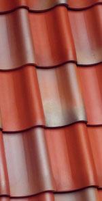 Geflammte dachziegel