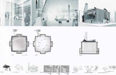 Architekturwettbewerb, International VELUX Award 2004, Architekturstudenten, Architekten, Bunker-Innenräume, Tageslicht, Tageslicht, Glasfaserstränge, Hochbunker, Studentenwettbewerb