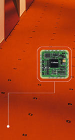 Thinking Carpet, mitdenkender Teppichboden, Alarmtechnik, Klimatechnik, Sensoren, künstliche Intelligenz