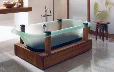 Designer Badewanne free by babel eine transluzente badewanne mit aura