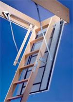 luftdichte Bodentreppe, Dachboden, Deckenanschluss, Stahltreppe, Scherentreppe, Schutzgeländer