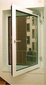 Brandschutzfenster und Lüftungsflügel der Brandschutzklassen F 30, G 90 aus wärmegedämmten Aluminiumprofilen als G-Verglasung sowie F-Verglasung