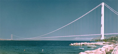 Brücke von Messina, Hängebrücke, Meerenge von Messina
