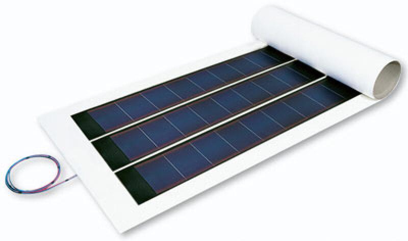 Photovoltaikdachbahn, Photovoltaik-Dachbahn, Evalon-Solar, dünnschichtige Photovoltaik-Module, wasserdichte Dachabdichtung, Photovoltaik-Anlage