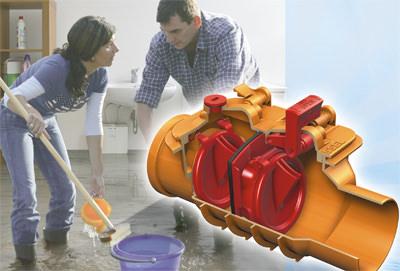 Abwassertechnik, Rückstauverschlüsse, Rückstauverschluss, Rückstausicherung, Abwasserinstallation, Rückstauverschluß, Rückstau, Sammelleitung, Abwasserkanal, fäkalienfreies Abwasser, Wartung, Dichtheit