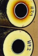 Kunststoffmantelrohr, gedämmte Rohre, Kunststoffmantelrohre, Rohrleitungsdämmung, Rohrdämmung, PUR-Wärmedämmung, Leitungen, Installationsleitungen, Fernwärmeleitungen, Rohr, Installationsleitung, Fernwärmeleitung, Hartschaum, Dämmung, Rohrleitung, PUR-Schaum
