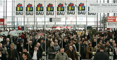 BAU 2007, München, Dachbaustoffe, Dachfenster, Baumesse, Baustoffbranche, Bauchemie, Bodenbeläge, Beschläge, Schlösser, Holz, Kunststoff, Gebäudesicherheit, Sonnenschutz, Solartechnologie, Glas, BAU IT, Bausoftware, Bauelemente, Bausysteme