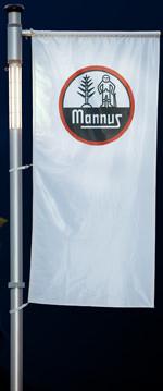 Fahnenmast, Werbung, Fahnen-Lichtmast, Fahnenmasten, Straßenbeleuchtung, Fahne, Fahnen, Außenbeleuchtung, Straßenlampe