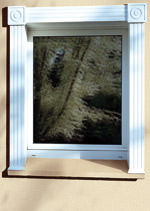 Fensterlaibung, Schmuckrahmen, Fenster, Tür, Haustürlaibung, Laibung, Mauerwerköffnung, Aldra-Designrahmen, Maueröffnung
