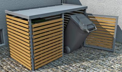 Hervorragend Mülltonnen elegant verkleidet   Mülltonnenbox als Müllbehälter AY26