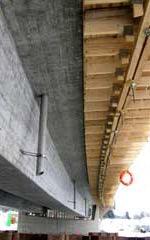 Betonbau, leichtverdichtender Beton, Brückenbauwerk, Brückenbau, Readymix Aaton, Baustoff, EN 206, DIN 1045, Betonierzeit