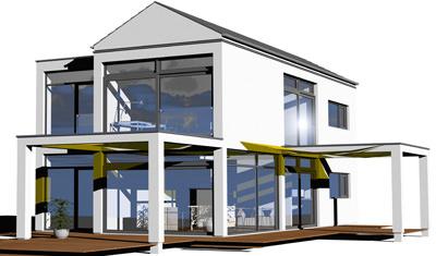 Moderne häuser mit viel glas  Das Haus der Zukunft: moderne Architektur mit viel Glas